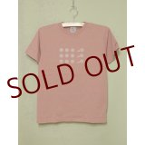 shiii+po Hand-Stamp Tee 『Bubbles Antique』 Pink