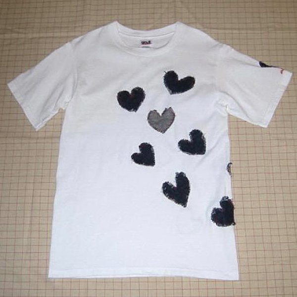 画像1: 【参考商品】 オーダー DENIME HEART Tee