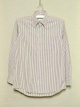 NORTH of HEAVEN BDシャツ  WHT/BRWロンスト  size 15