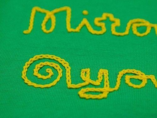 他の写真1: 【参考商品】shiii+po 背守りTee Mitakuye Oyasin +太陽 Brazil Green