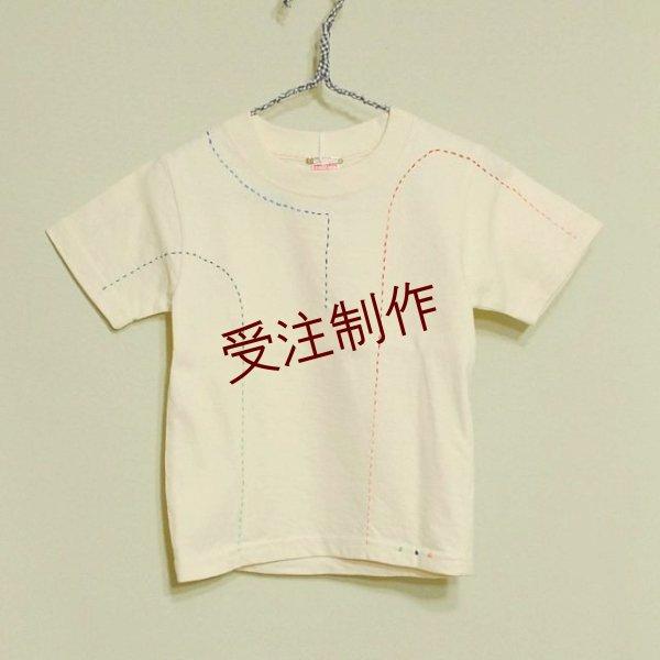 画像1: 【定番】shiii+po Sa-Si-Co RGB Tee(刺し子ステッチ)Baby&Kidsサイズ 80〜160