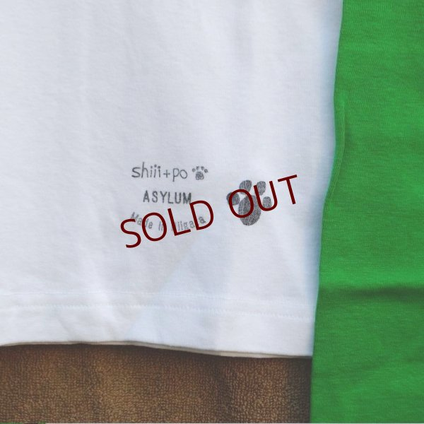 画像5: shiii+po Women's NO NUKES ラグランロンTee  WHT/GREEN size Women's S