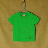 shiii+po 背守りTee choochoo train Green size 90