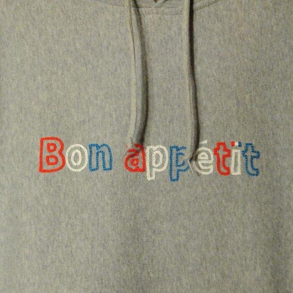 画像3: shiii+po Bon appetit 刺繍スウェットパーカー Gray size S